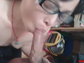 asian mother sucking a cock like crazy