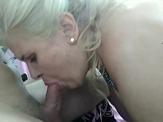 BLOWJOB EDITION  big boobs mature woman sucking my cock