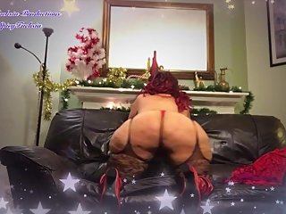 Sexy Christmas Strip Tease in Red Lace
