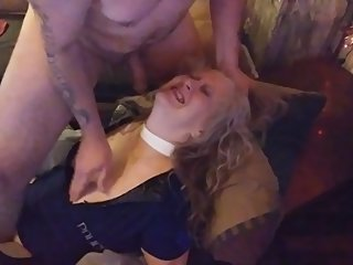 PLEASE DONT CUM IN ME / BOSSES WIFE TIED DOWN AND ABUSED