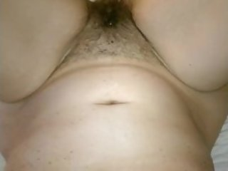Horny Hairy Busty Milf Bed Massage